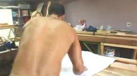 Sexo anal violento com uma loira brasileira